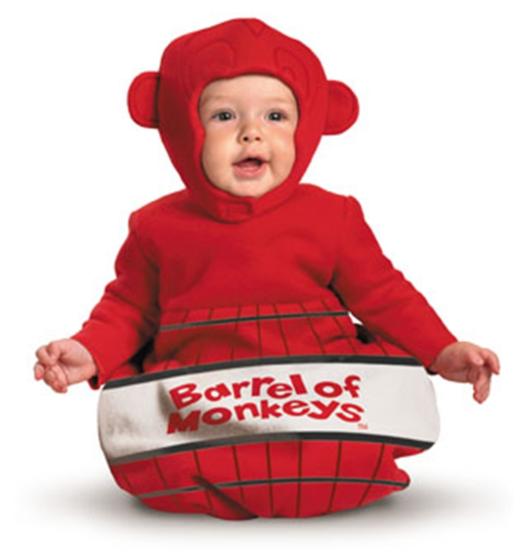 Barrel of Monkeys Infant Bunting Costume