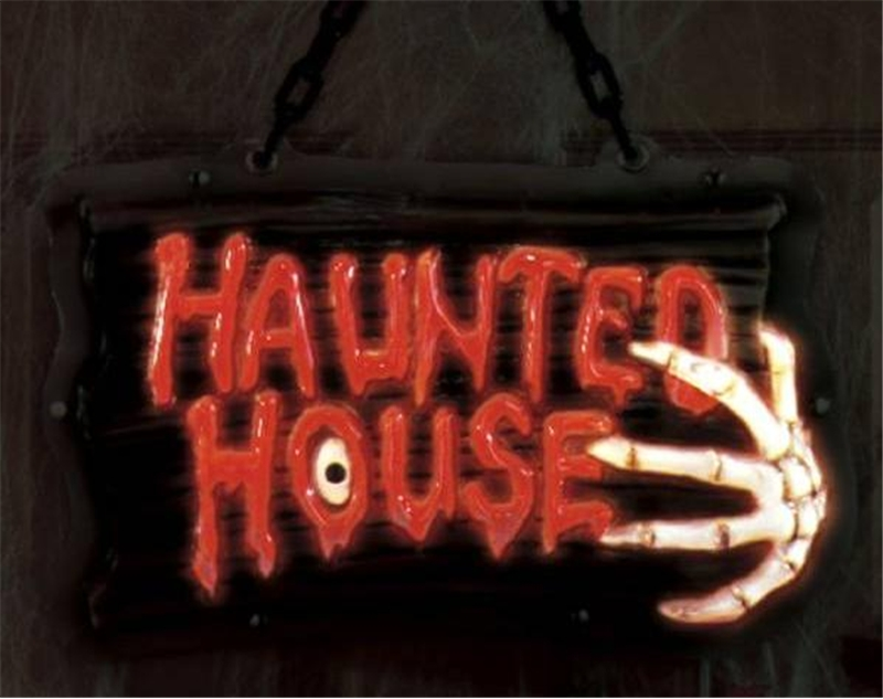 Haunted House Light Up Sign