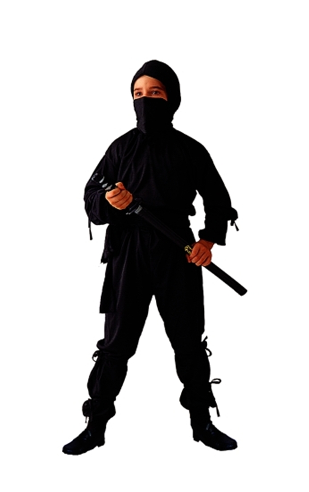 Ninja Black Child Costume by RG Costumes