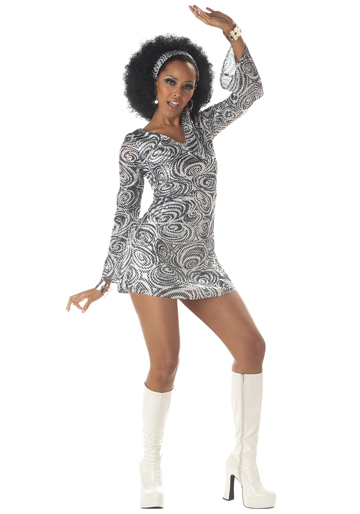 Sexy Disco Diva Adult Womens Costume by California Costumes
