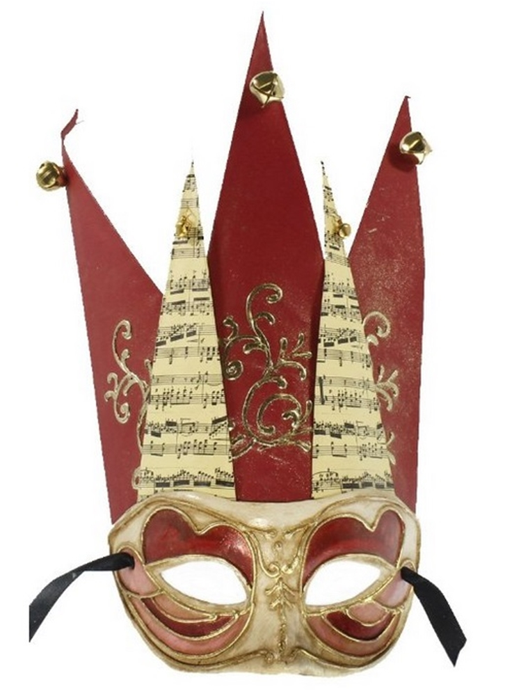 Jester Adult Mask with Bells