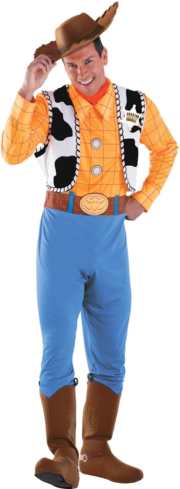 Toy Story And Beyond! Woody Deluxe Adult Mens Costume (Woody Costumes Adults)
