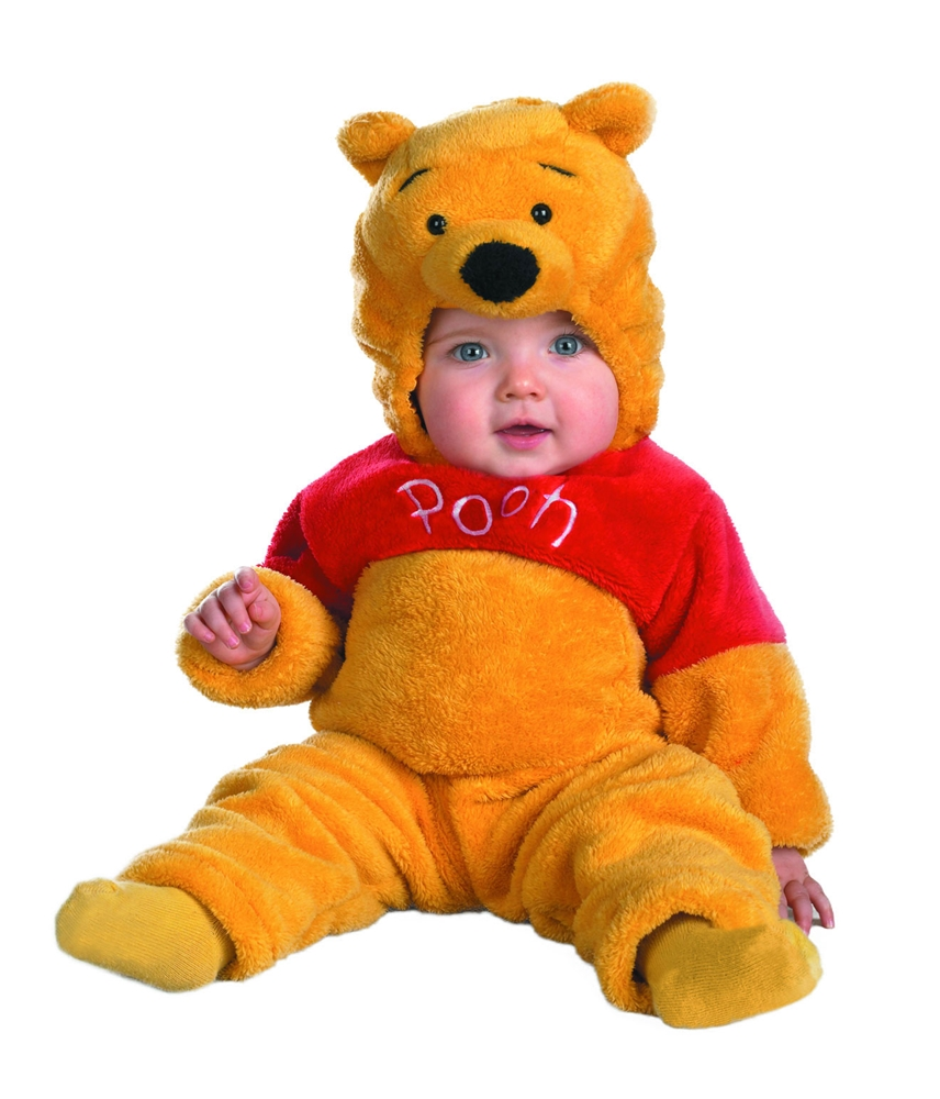 Winnie The Pooh Deluxe Two-Sided Plush Jumpsuit Infant Costume (Winnie Pooh Costume)