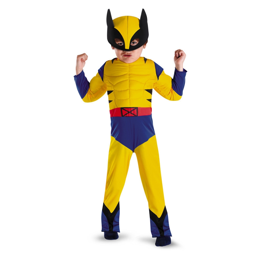Wolverine Deluxe Muscle Toddler Costume (Wolverine Muscle Costume)