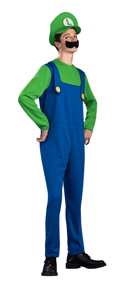 Mario Brothers Luigi Teen Costume by Rubies