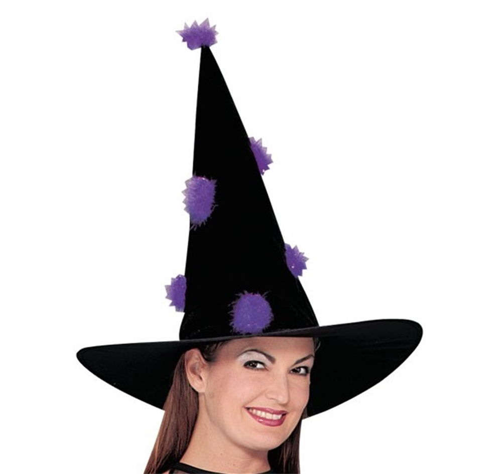 Image of Black & Purple Witch Hat