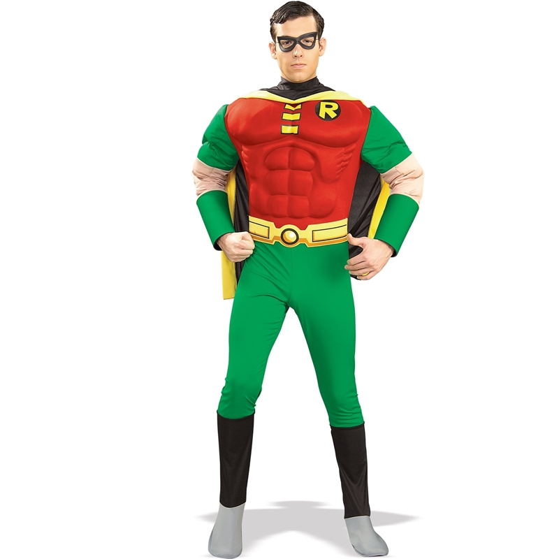 Deluxe Muscle Chest Robin Adult Costume by Rubies