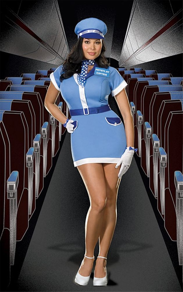 Private Jet Captain Plus Size Adult Womens Costume