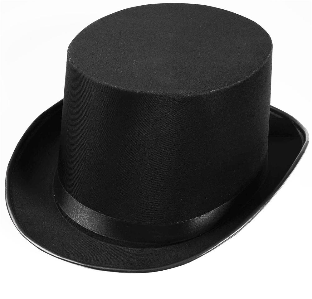 Satin Black Top Hat