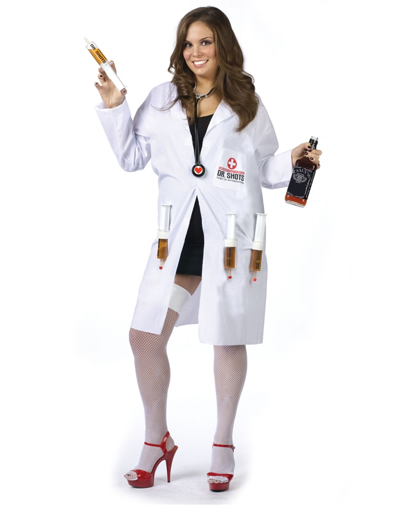 Image of Dr. Shots Plus Size Womens Costume