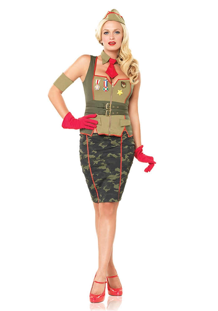 Military Pin Up 5pc Costume