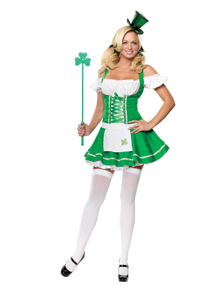 Lucky Lass Adult Womens Costume