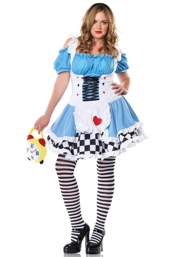 Miss Wonderland Adult Womens Plus Size Costume by Leg Avenue