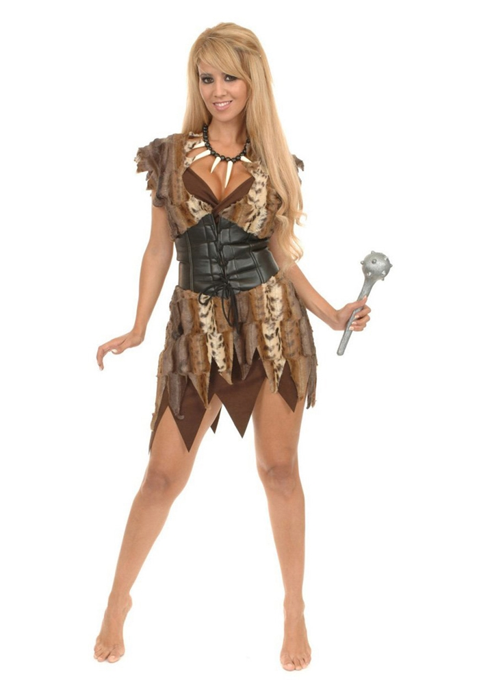 Cave Woman Brown Adult Costume