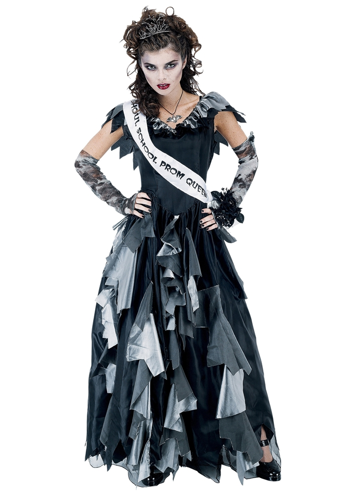 [Zombie Prom Queen Adult Costume] (Zombie Queen Costumes)