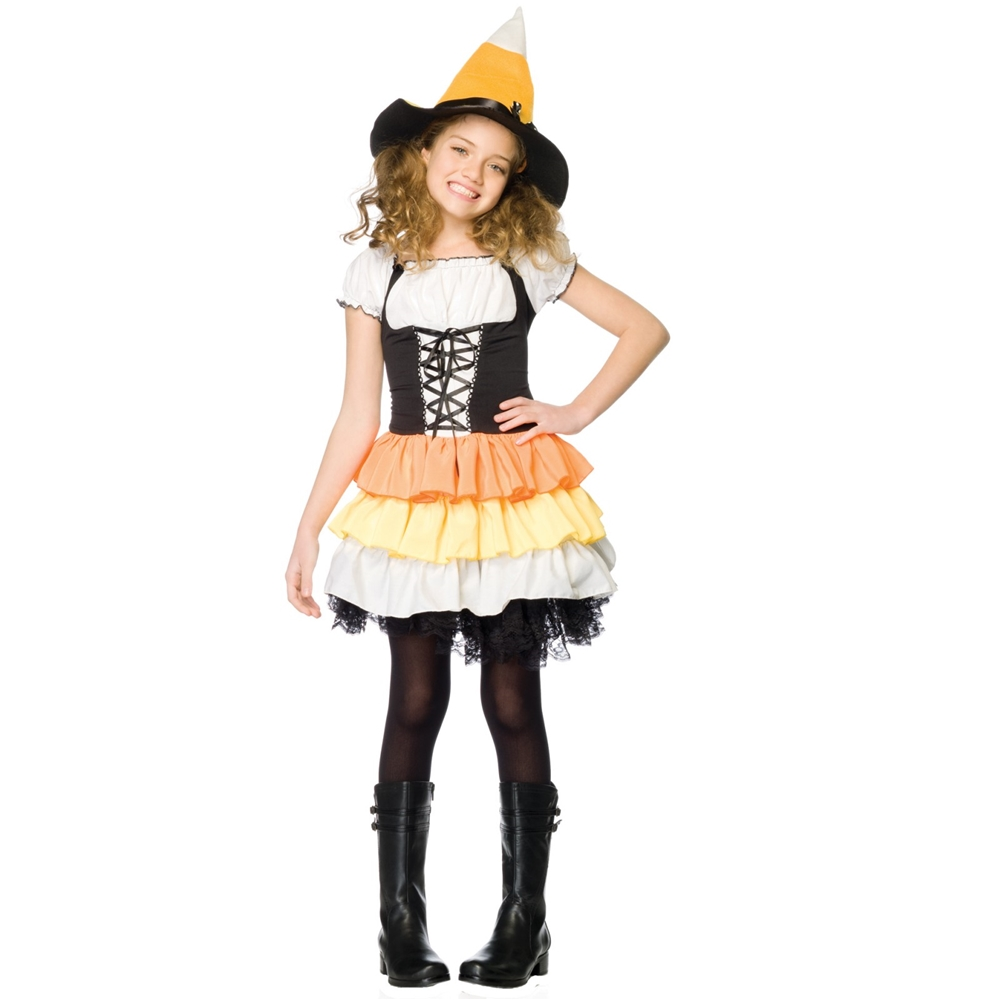 Kandy Korn Witch Child Costume Cute Halloween Girls Outfit ...