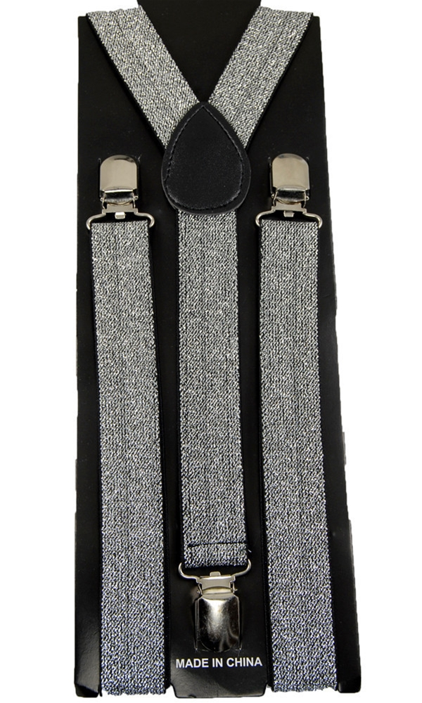 Silver Suspenders Belt