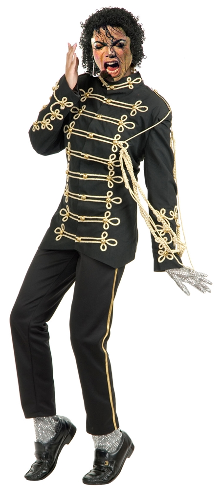 Michael Jackson Military Rocker Embroidered Jacket Adult Mens Costume