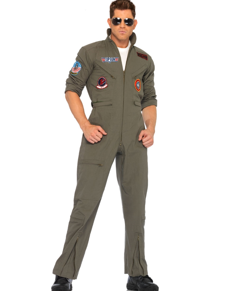 Top Gun Jumpsuit Adult Mens Costume