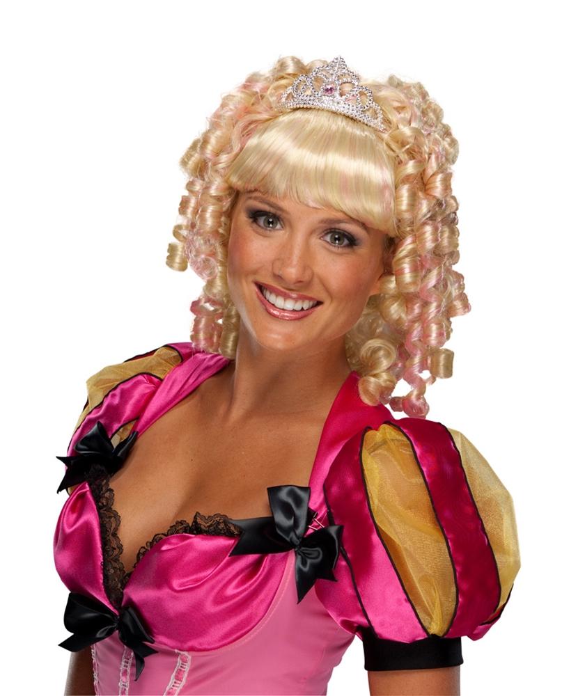 Blonde Princess Adult Wig with Crown