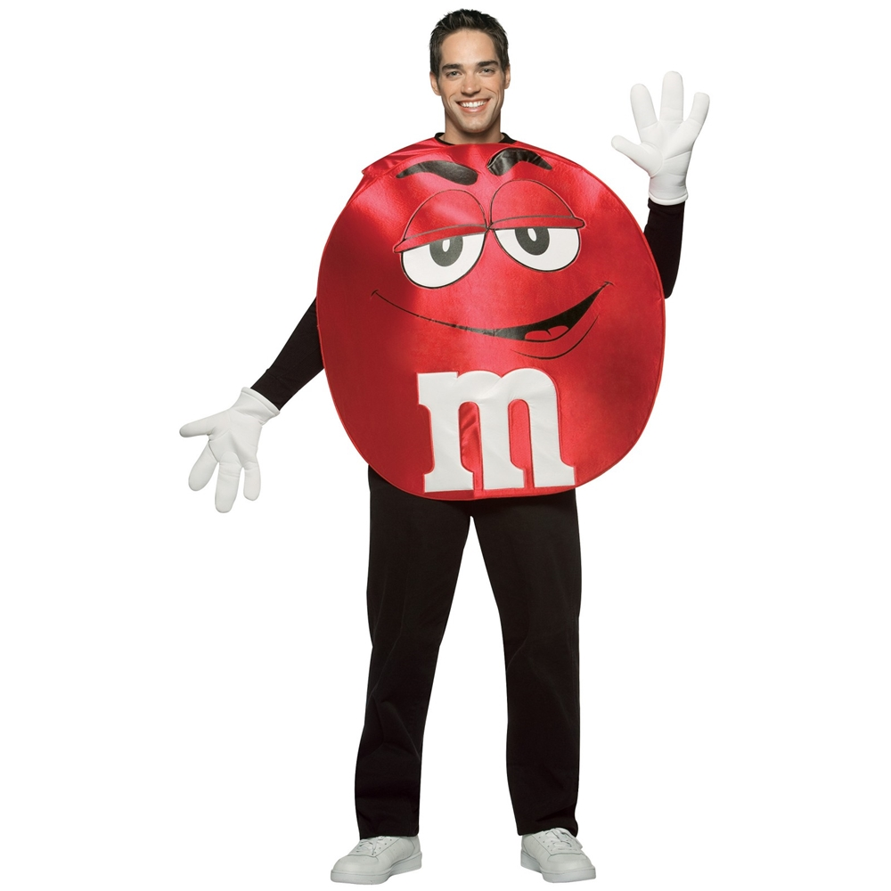 M&M Red Poncho Adult Unisex Costume (Adult M&m Costumes)