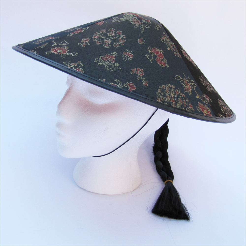 Coolie Adult Hat with Hair