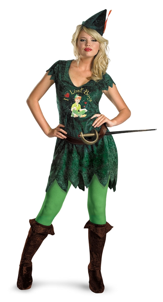Sassy Peter Pan Adult Womens Costume by Disguise