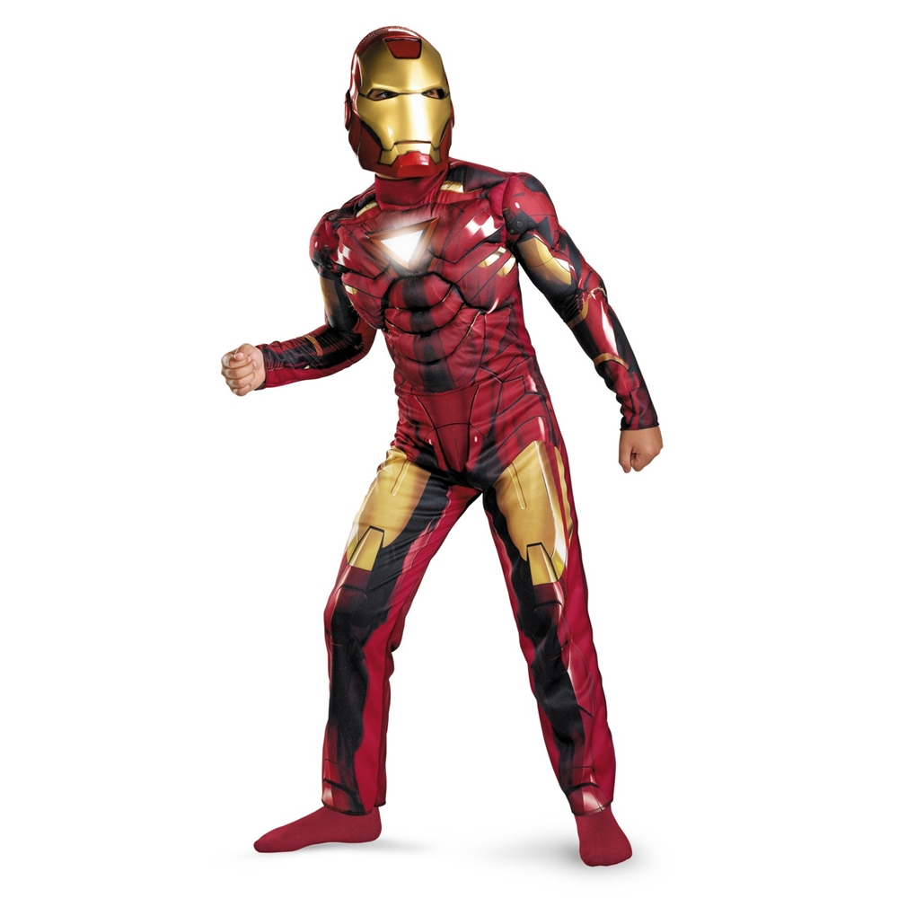 iron man mark vi deluxe light up child costume 232768. Black Bedroom Furniture Sets. Home Design Ideas