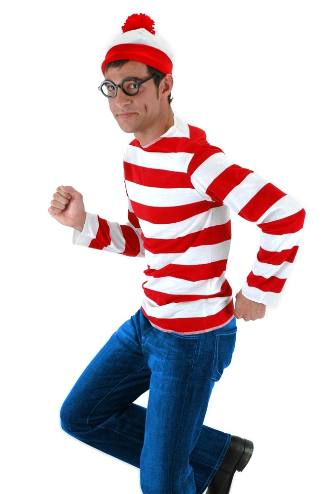 Where's Waldo Adult Mens Costume