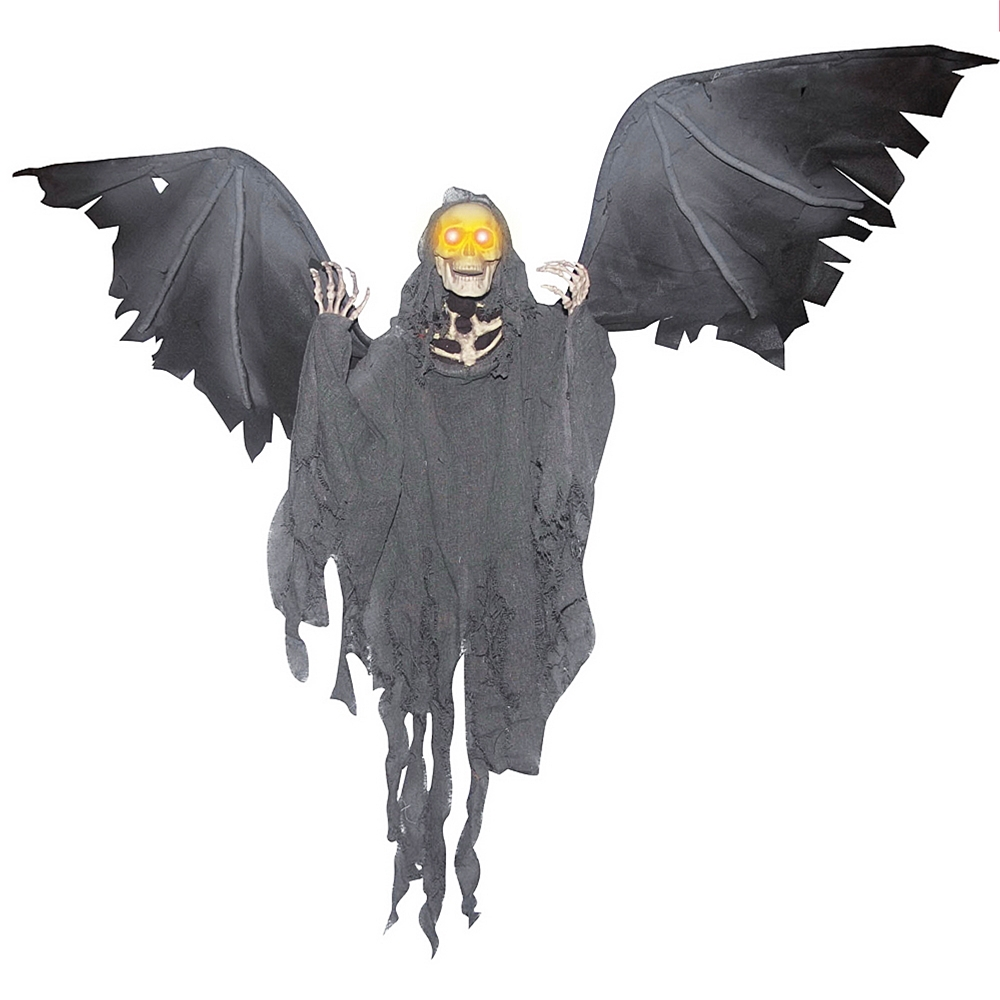 Spooky front porch halloween decoration ideas scaridari time for Animated flying bat decoration