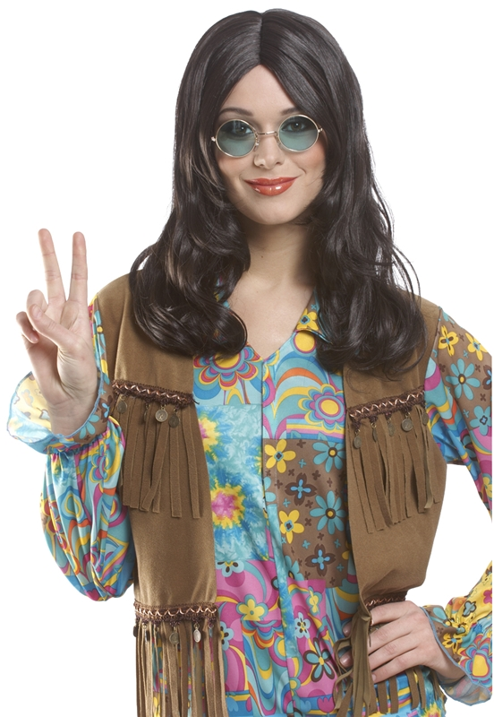 Brown Unisex Hippie Adult Wig
