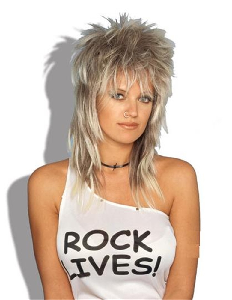 Blonde Unisex Rocker Adult Wig