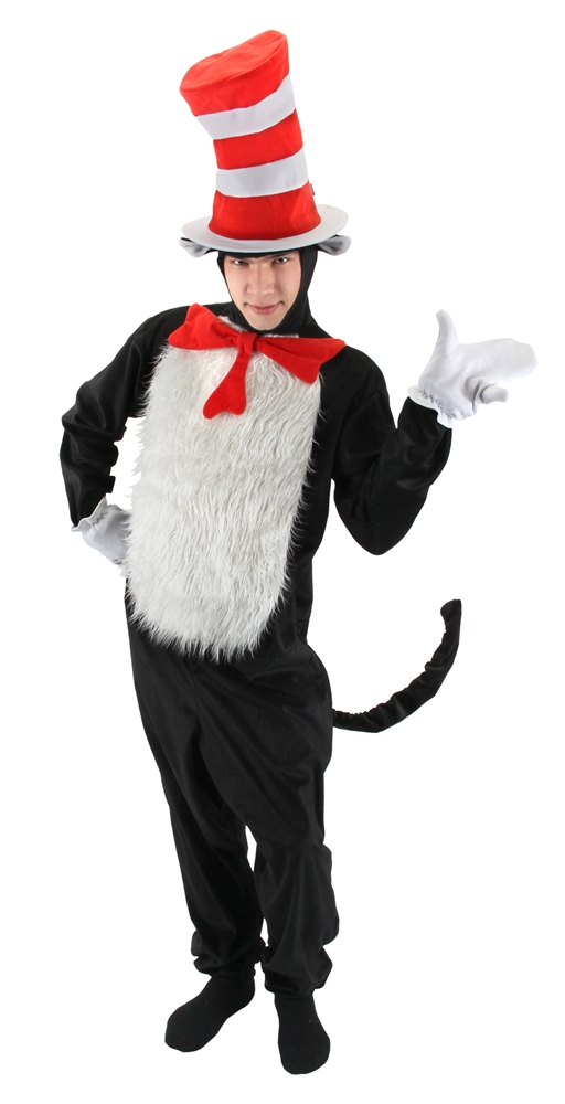 Dr. Seuss Cat in the Hat Deluxe Adult Unisex Costume 400436