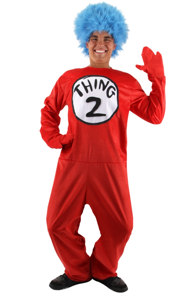 Dr. Seuss Thing 1&2 Deluxe Adult Costume