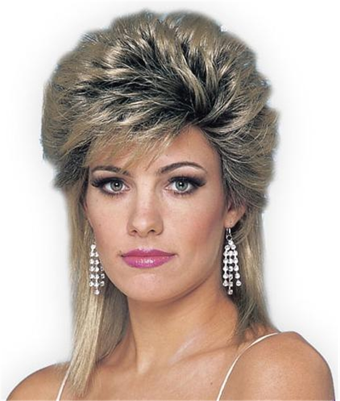 Image of 80s Sprayed Mix Adult Wig