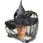 Black-Witch-Hat-With-Feather-Veil