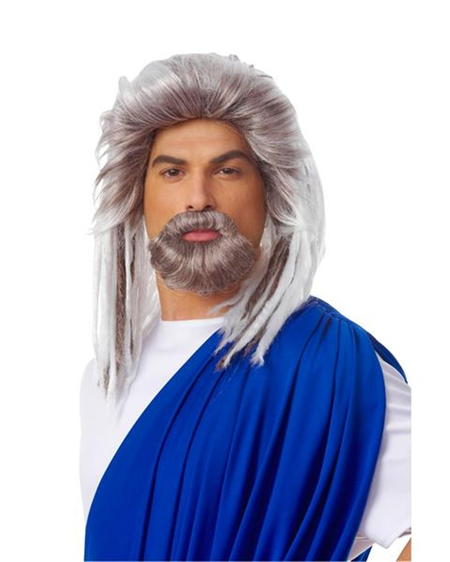 Neptune God Wig and Beard Set by Franco-American