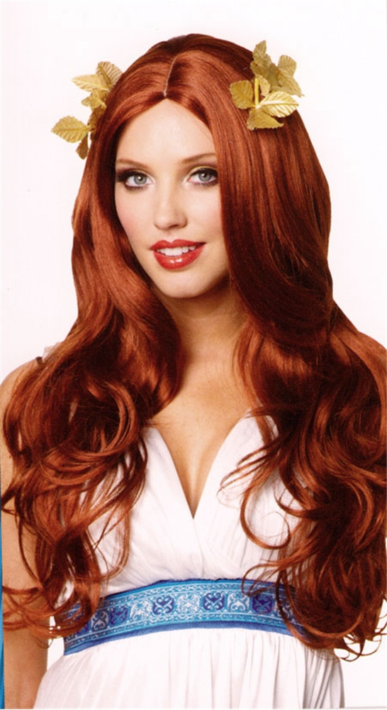 Greek Goddess Long Red Wig