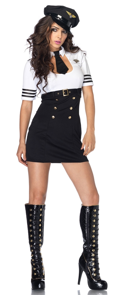 First Class Captain Adult Womens Costume