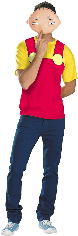 Stewie T-Shirt with Mask Plus Size Adult Mens Costume