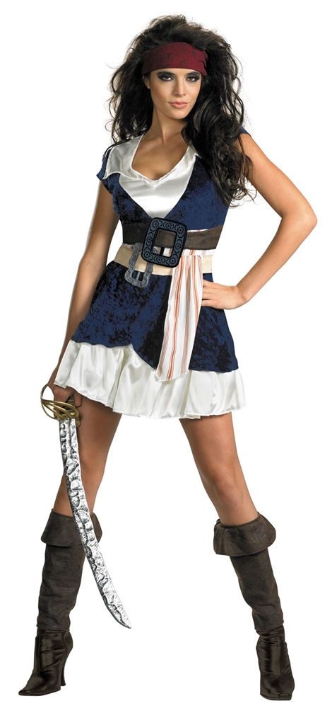Sassy Captain Jack Sparrow Adult Womens Costume