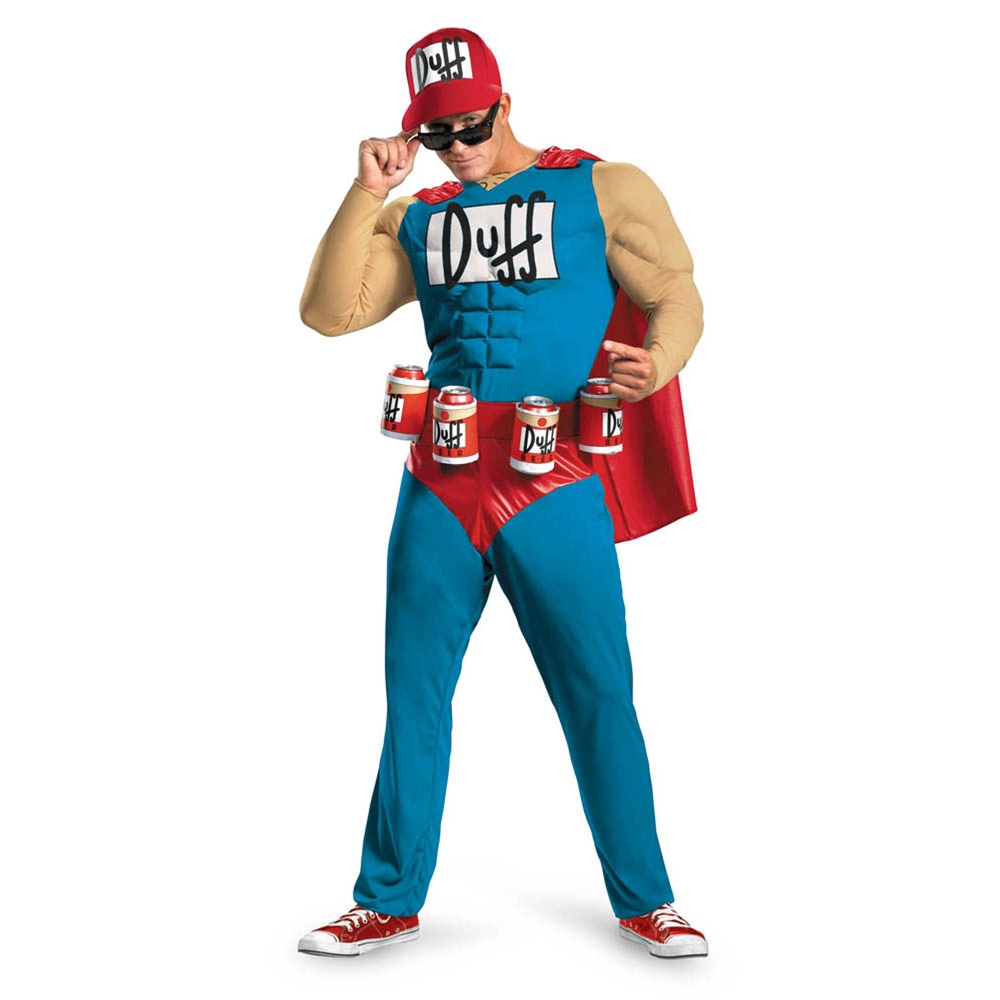 Simpsons Duffman Classic Muscle Adult Mens Costume
