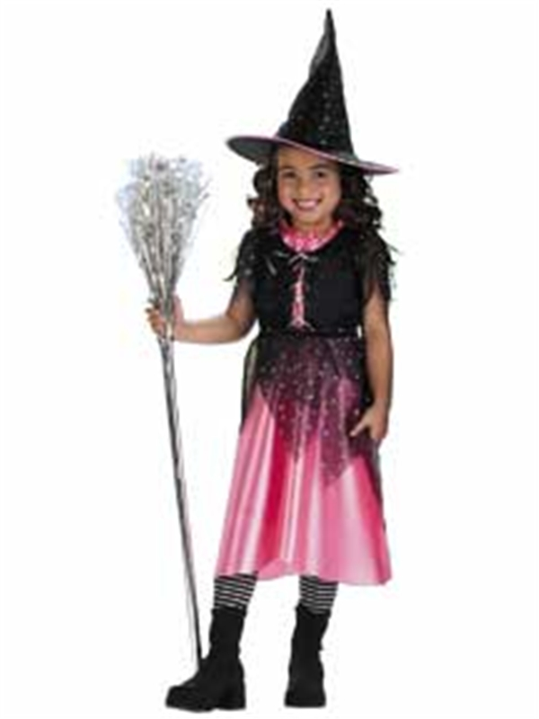 Pink Sparkle Witch Child Costume