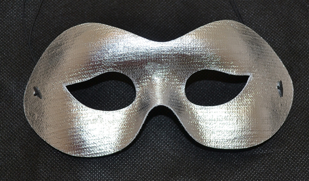 [Party Wear Silver Mask] (Silver Mask)