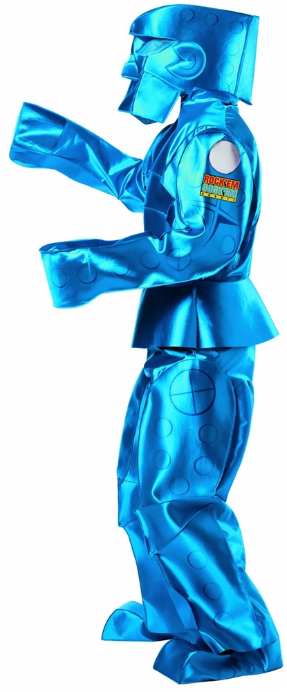 Blue Rock Em Sock Em Robot Adult Costume
