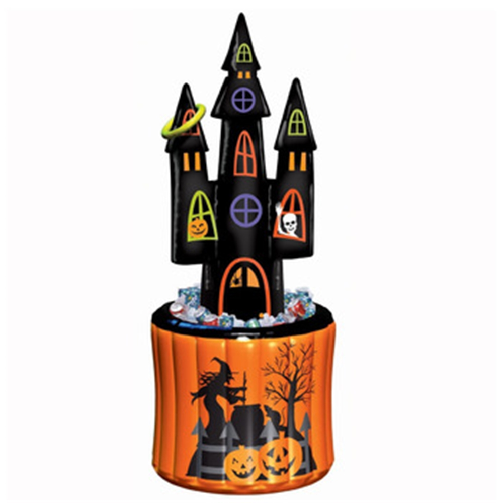 Inflatable Haunted House Drink Cooler and Game