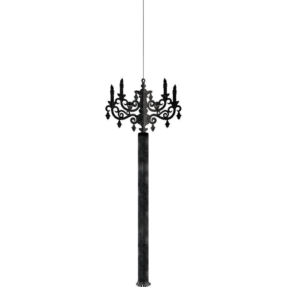 Image of Hanging Black Gothic Candelabras