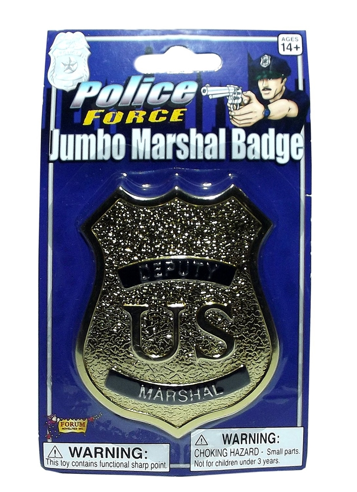 Gold Jumbo Marshal Badge