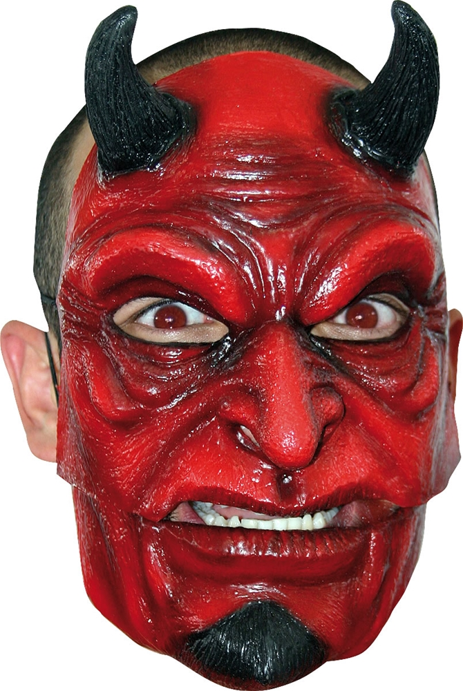 Devil Moving Mouth Adult Mask