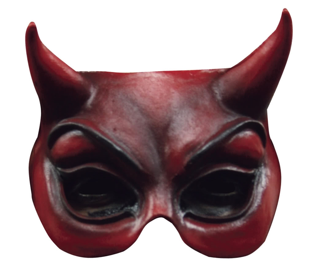 Devil Adult Half Mask